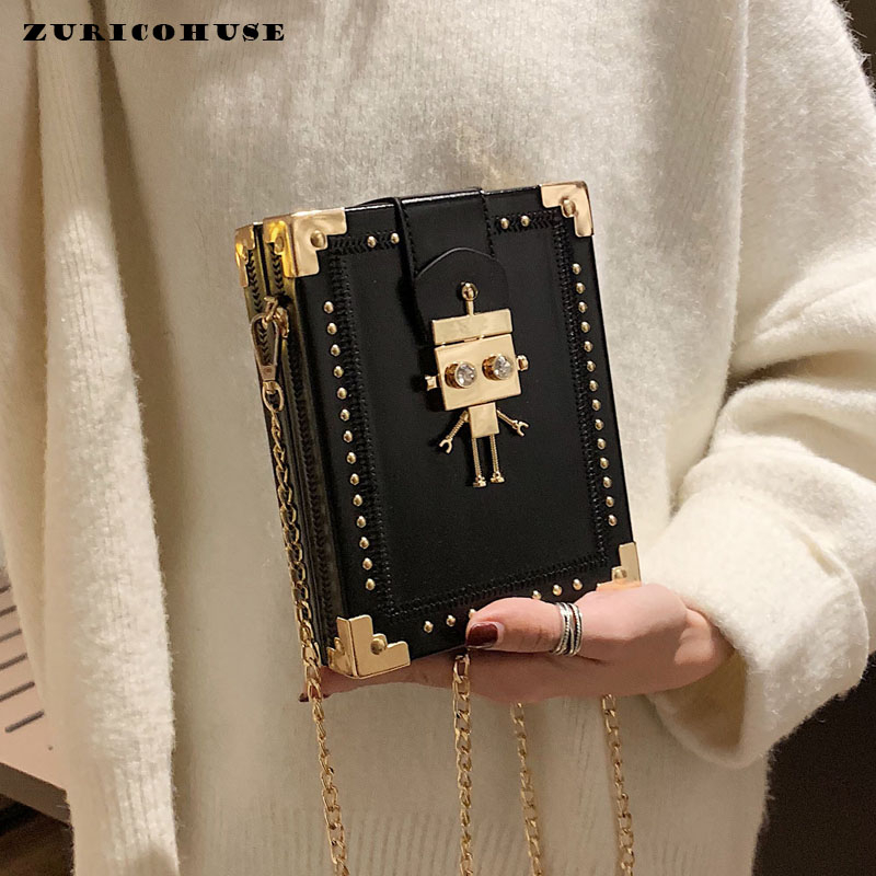 ZURICHOUSE 2019 Crossbody Bags For Women Square Box Handbags Ladies PU Leather Fashion Luxury Shoulder Messenger Bag
