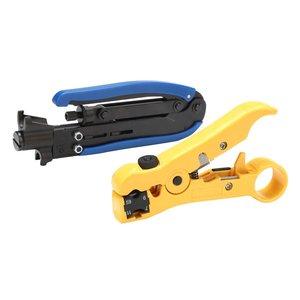 RG6 RG59 RG11 Регулируемый коаксиальный кабель щипцы для зачистки компрессионный ручной инструмент коаксиальный кабель Обжимные щипцы инструме...
