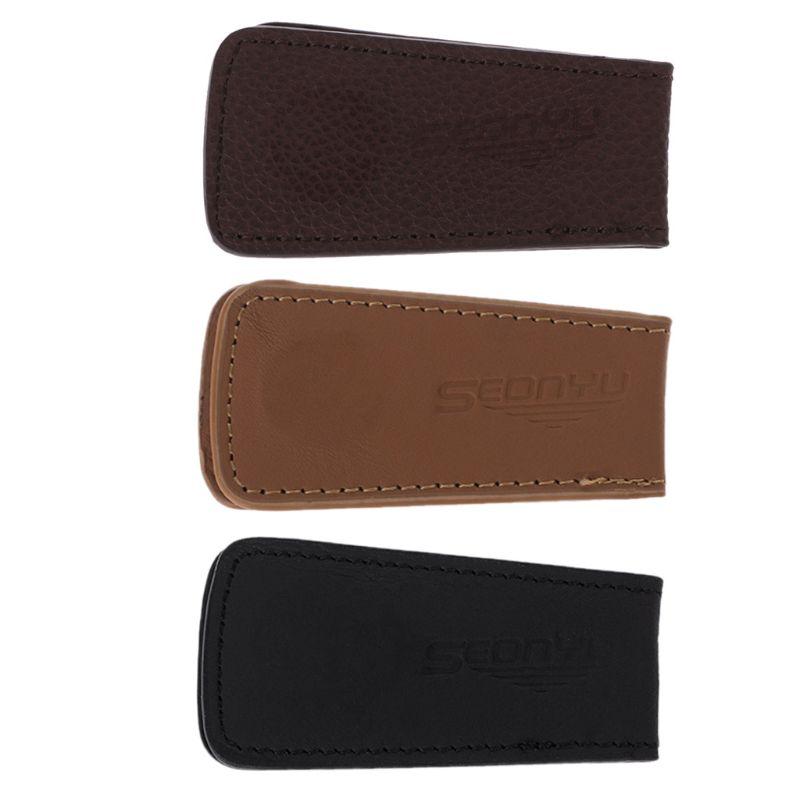 Men's Leather Magnetic Slim Money Clip Wallet Credit Card ID Holder Pocket
