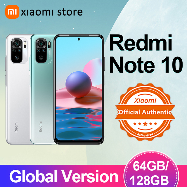 Xiaomi redmi nota 10 4gb 64gb/128gb smartphone versão global snapdragon 678 amoled display 48mp quad camera 33w 1