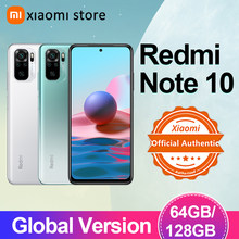 Xiaomi redmi nota 10 4gb 64gb/128gb smartphone versão global snapdragon 678 amoled display 48mp quad camera 33w