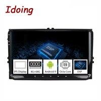 Idoing 9Universal Car Android 9.0 Radio Multimedia Player For Volkswagen Golf Poloskoda rapid octavia Radio Tiguan Passat B7 B6