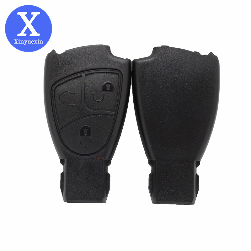 XinYueXin Soft Buttons Key Shell Case For Mercedes Benz B C E S ML SLK CLK Class 3 Buttons Key Shell Fob Cover For Mercedes Benz