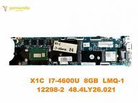 Original para Lenovo laptop motherboard X1C X1C I7 4600U 8GB LMQ 1 12298 2 48.4LY26.021 testado bom frete grátis|Placa-mãe para notebook| |  -