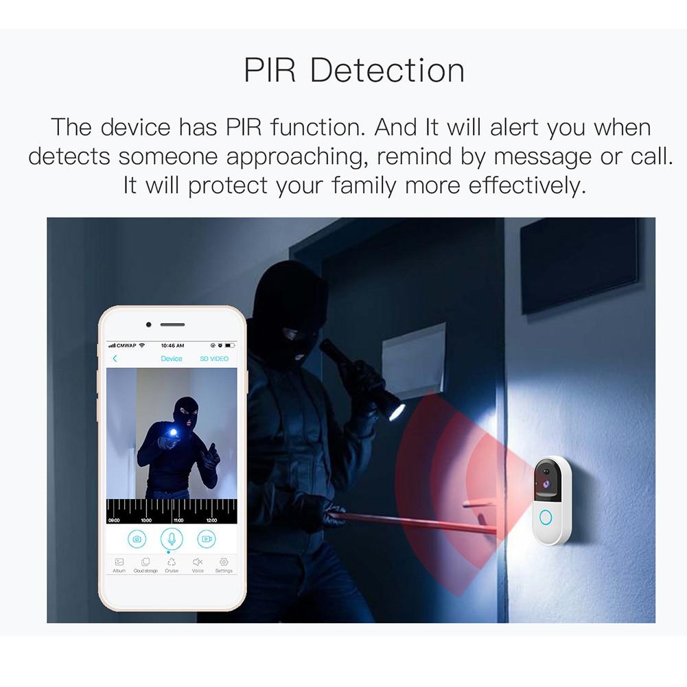 Smart Video Doorbell Wireless WiFi Intercom Doorbell Camera APP Control Bell Night Vision OD889 Doorbell     - title=
