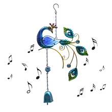 Garden Beauty Peacock Design Wind Chimes Yard Home Decor Large Hanging Pendant Outdoor Ornament neal s yard beauty book