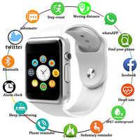 A1 bluetooth relógio inteligente esporte relógio de pulso suporte 2g sim tf câmera smartwatch para o telefone android pk gt08 dz09 q18 y1 v8