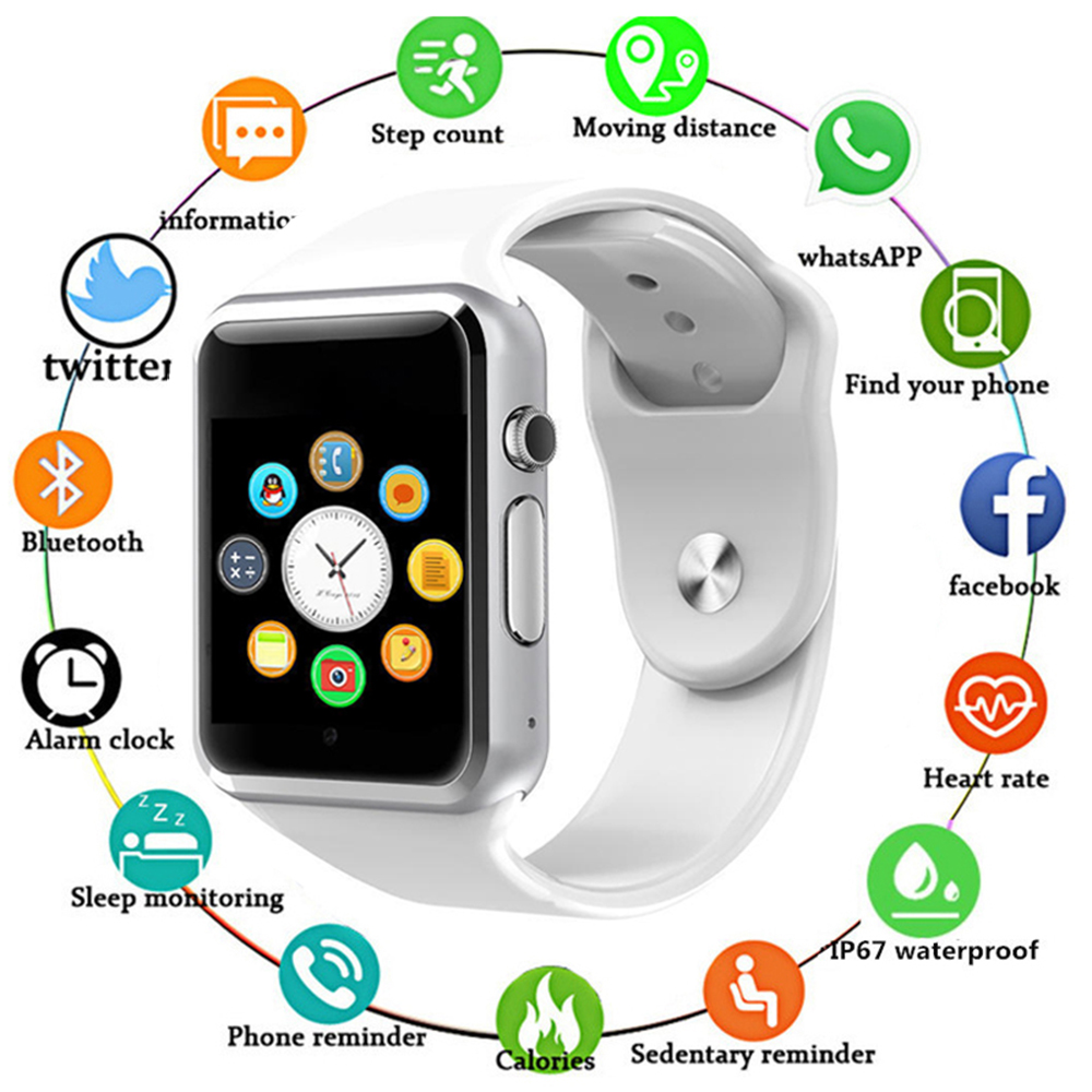 Bluetooth A1 Smart Watch Sport Wristwatch Support 2G SIM TF Camera Smartwatch For Android Phone PK GT08 DZ09 Q18 Y1 V8