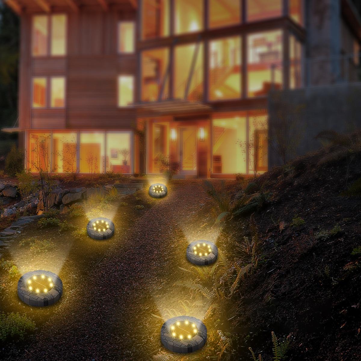 4 pçs movido a energia solar luzes
