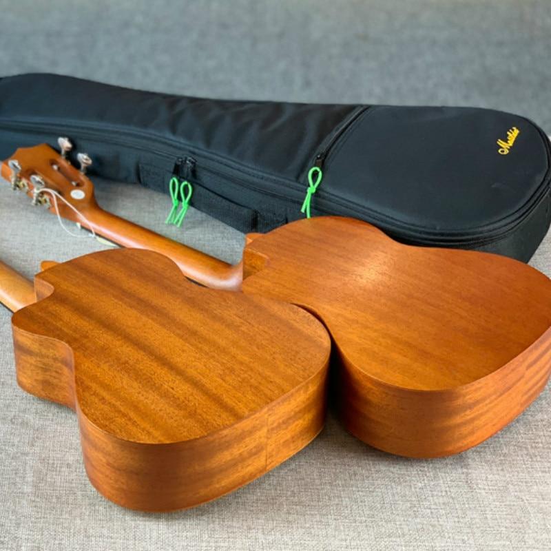 Ukulele 26 Inches All Mahogany Spruce Mini Electri Tenor Acoustic Guitars 4 Strings Ukelele Pickup Travel Guitar Included Bag in Ukulele from Sports Entertainment