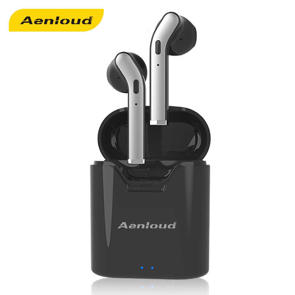 Aenloud tws ワイヤレスヘッドフォンスポーツ sweatproof インナーイヤー型ハイファイステレオ hd 通話 bluetooth 5.0 イヤホン 3 h プレイタイム xiaomi サムスン