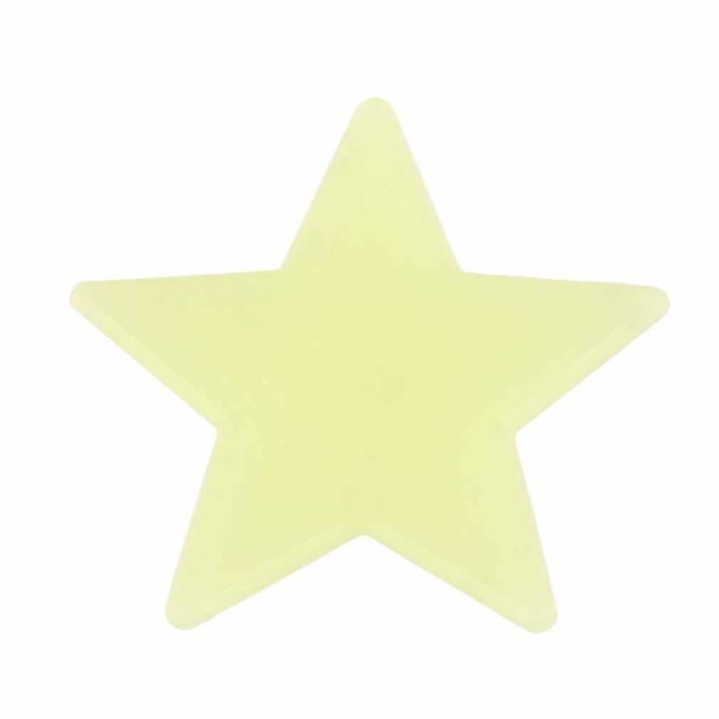 100 Uds bebé DIY niños dormitorio pared techo de ensueño noctilucentes fluorescente brillan en la oscuridad estrellas pegatinas de pared decoración para el hogar