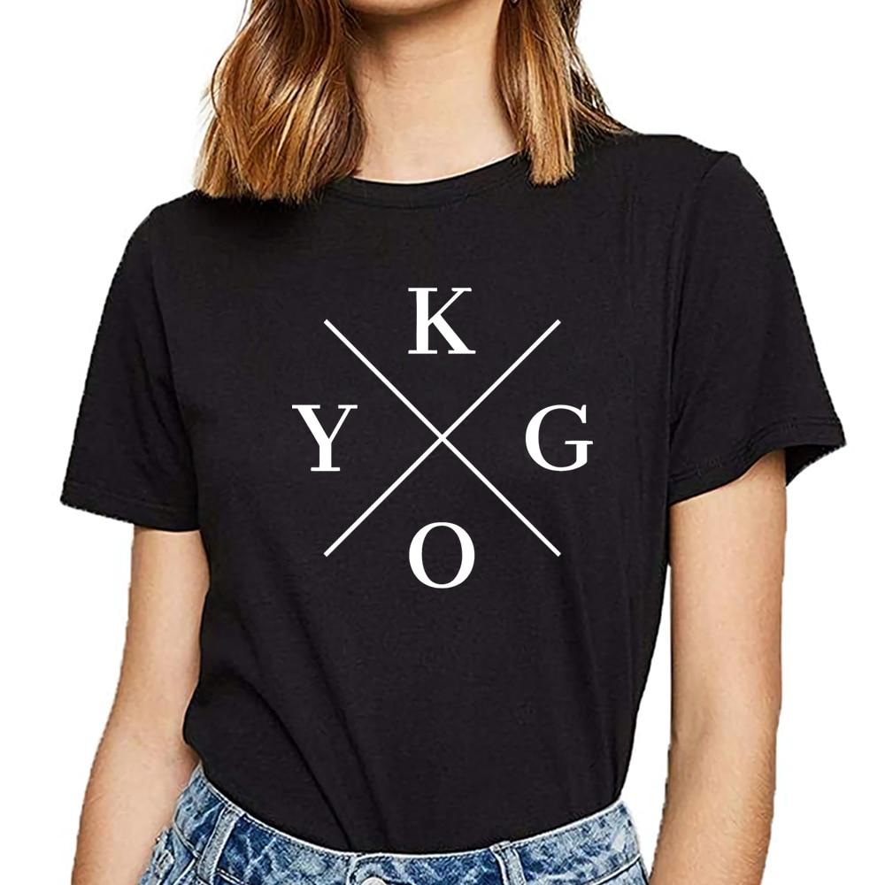 Tops T Shirt Women Kygo Hip Hop Vintage Custom Female Tshirt