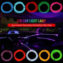 10 Colors Cold Line Flexible Trim Decoration Car Atmosphere Light For Subaru Forester STI XV Outback WRX Impreza Legacy BRZ