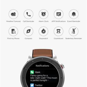 Image 4 - הגלובלי גרסה חדש Amazfit GTR 47mm חכם שעון 5ATM Smartwatch 24 ימים סוללה מוסיקה בקרת עבור אנדרואיד IOS טלפון