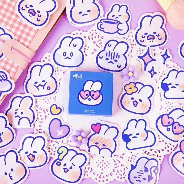 45 Pcs/box Cute Kawaii Cartoon Rabbit Decoration Stickers Planner Scrapbooking Stationery Korean Diary Stickers