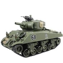 2,4G rc Танк США Шерман M4A3 колесница 15 каналов 1/20 главный боевой танк модель Рождественский подарок США штекер