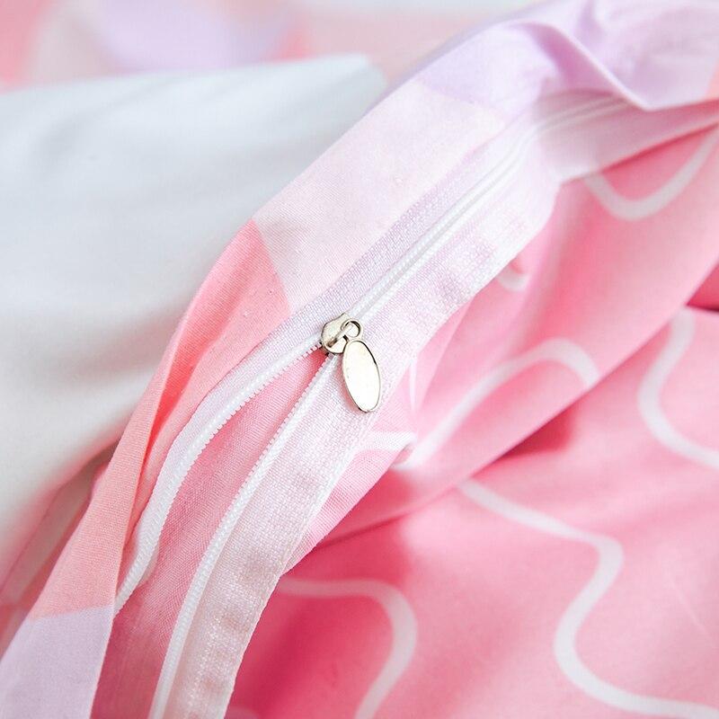 Style de bande dessinée ensemble de literie oiseau rose 4 pièces lit roi reine taille linge de lit taie d'oreiller housse de couette ensemble Textiles de maison literie # sw - 6