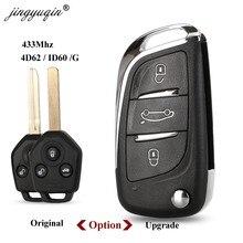 Jingyuqin 433MHz 4D62 ID60 G Chip di 3 Tasto chiave A Distanza per Subaru Forester OutBack XV Origianl/Aggiornato di Vibrazione pieghevole Chiave Fob