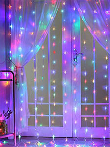 Curtain Garland-Lights Wedding-Decor Remote-Control LED Christmas Party Garden Home 3M