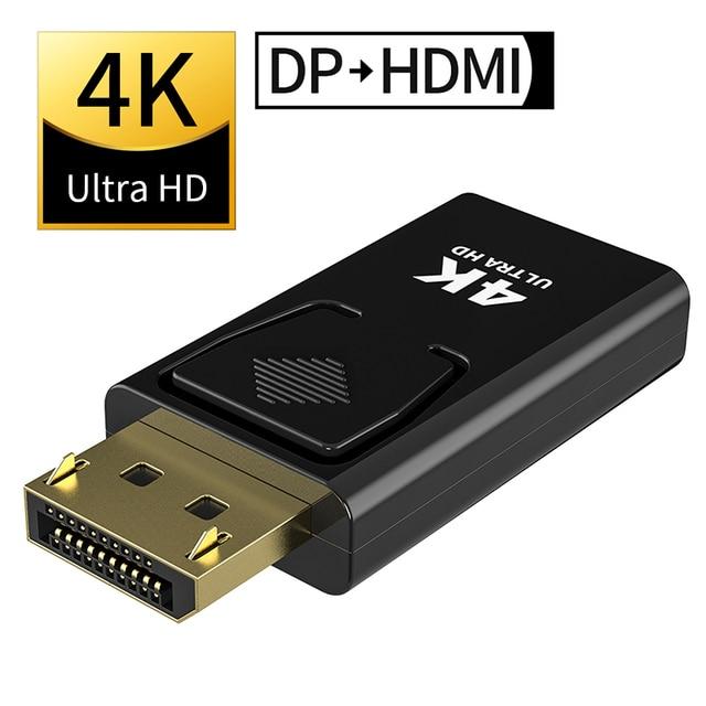 Displyport כדי HDMI מקסימום 4K hdmi 2.0b מתאם נקבה לזכר DP כדי HDMI ממיר 2K וידאו אודיו מחבר תקע MOSHOU