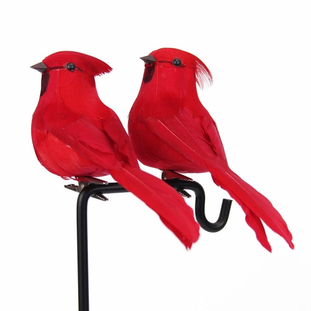 Creative Foam Feather Artificial Parrots Imitation Bird Model Home Outdoors Garden Wedding Decoration Ornament DIY Party Home & Garden