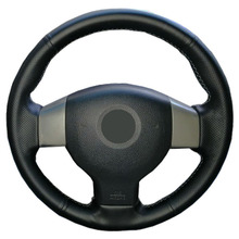 Artificial Leather car steering wheel braid for  Old Nissan Tiida Livina Sylphy Note/Custom made Steering cover