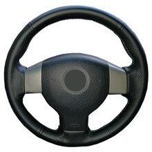Suni deri araba direksiyon örgü eski Nissan Tiida Livina Sylphy not/özel yapılmış direksiyon kapağı
