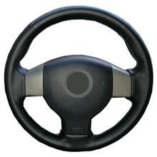מלאכותי עור רכב הגה צמת עבור הישן ניסן Tiida Livina Sylphy הערה/תפור לפי מידה היגוי כיסוי