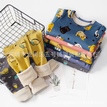 Pajamas Thermal-Underwear Winter 2-Yuan Stall Fleece-Lined Thickened And Baby Autumn