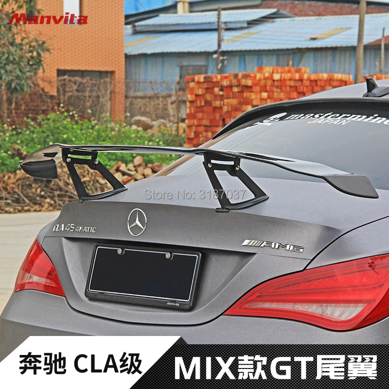 For Mercedes-Benz CLA W117 CLA180 CLA200 <font><b>CLA250</b></font> CLA260 Carbon Fiber Rear Roof <font><b>Spoiler</b></font> Wing Trunk Lip Boot Cover Car Styling image