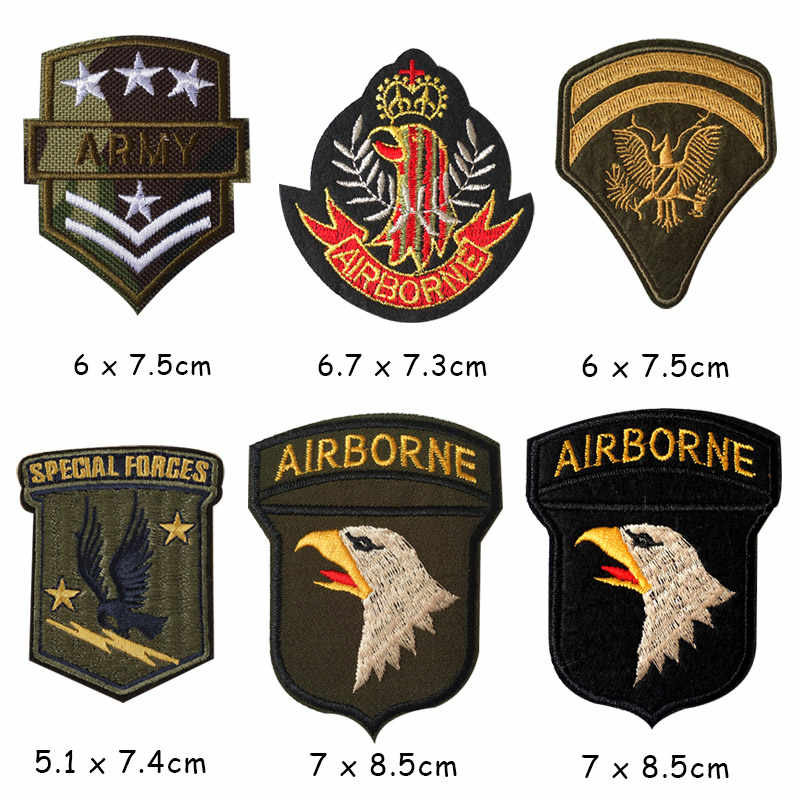 U S ARMY EMBLEM TOP GUN ทหารเหล็กบนแพทช์ปัก Applique เย็บเสื้อผ้าสติกเกอร์อุปกรณ์เสริมป้าย Patches