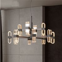 Nordic Modern Design Led Chandelier Light Lamp for Loft Living Room Dining Room Loft Hall NEW Black Candlestick 110V 220V