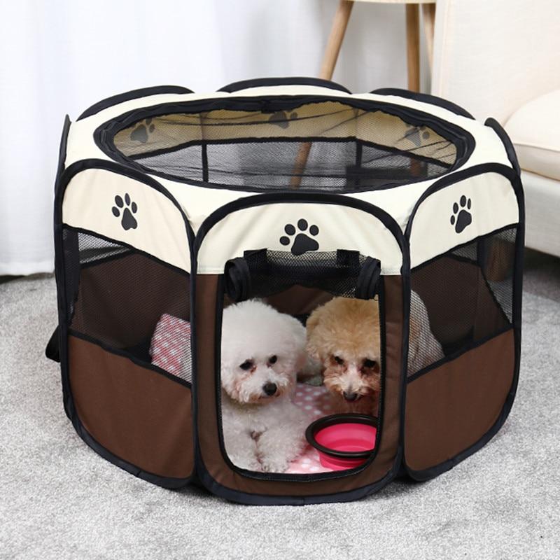 Переносная палатка для домашних животных, складной домик для собак, клетка, палатка для собак и кошек, манеж для щенков, будка, планшетов, Пря...