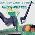 Режущие инструменты для рукоделия, вращающийся на 360 градусов нож для резки бумаги с 3 сменными лезвиями, режущий нож для рукоделия, художест...
