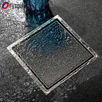 Onyzpily Shower Drain Floor Drain Tile Insert Square Floor Waste Grates Bathroom Drain Hair Invisible ralo linear rende banheiro