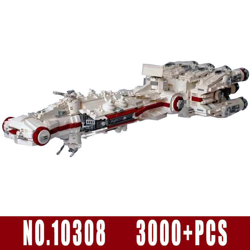 Star Toys Wars Compatible With Legoing MOC 10308 Blockade Runner (Tantive IV) Model Building Blocks Bricks Kids Christmas Gifts 4