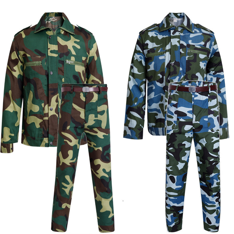 Military Training Camouflage Suit Men's College Student Digital Long Sleeve Summer Camp Outdoor Labor Protection Clothing 21 Oce