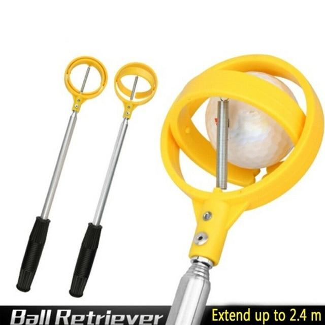 1Pc Golf Ball Pick Up Tools Telescopic Golf Ball Retriever Retracted Golf Pick up Automatic Locking Scoop Picker