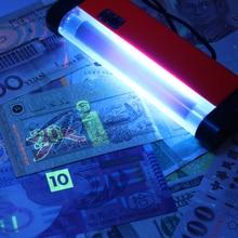2 в 1 портативный УФ-лампа Детектор фальшивых денег ручной светодиодный фонарик поддельный детектор поддельный банкнот