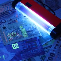 2 w 1 przenośna lampa UV fałszywy wykrywacz pieniędzy ręczna latarka LED fałszywy detektor walut podróbka bankot  waluta w Liczarki i testery pieniędzy od Komputer i biuro na