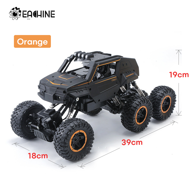 Eachine EA01 Big Size 20 to 39CM 1:12 RC Car 6WD 2.4Ghz Remote Control Crawler with Light Off Road Vehicles Truck Kids Toys
