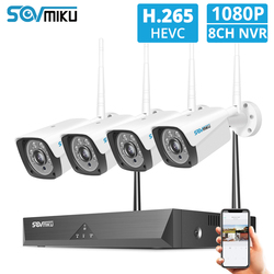 Sistema de CCTV inalámbrico 8CH 1080P 4 Uds 2MP cámara IP Wifi al aire libre 8CH grabadora NVR sistema de cámaras de seguridad Kit de vigilancia
