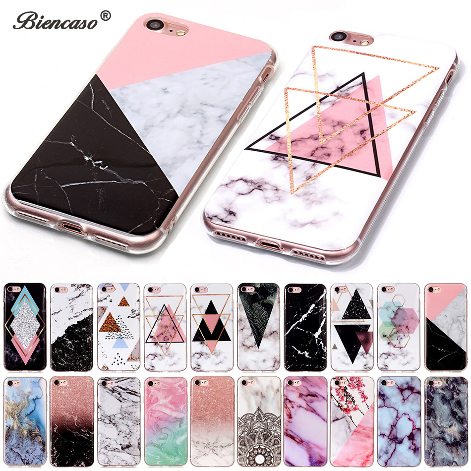 For iPod touch 5 6 7 Marmor myk TPU IMD silikon deksel Veske til iPhone 11 Pro Max XS Max XR X 5S SE 6 6S 7 8 Plus Fundas Coque
