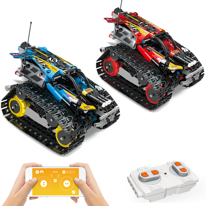 Toys Car-Bricks Building-Blocks Racer Tracked Vehicle-Creator Gifts Remote-Control Technic Rc
