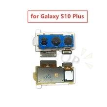 サムスンギャラクシー S10 プラスバックカメラリアメインカメラモジュールフレックスケーブルアセンブリの交換修理部品