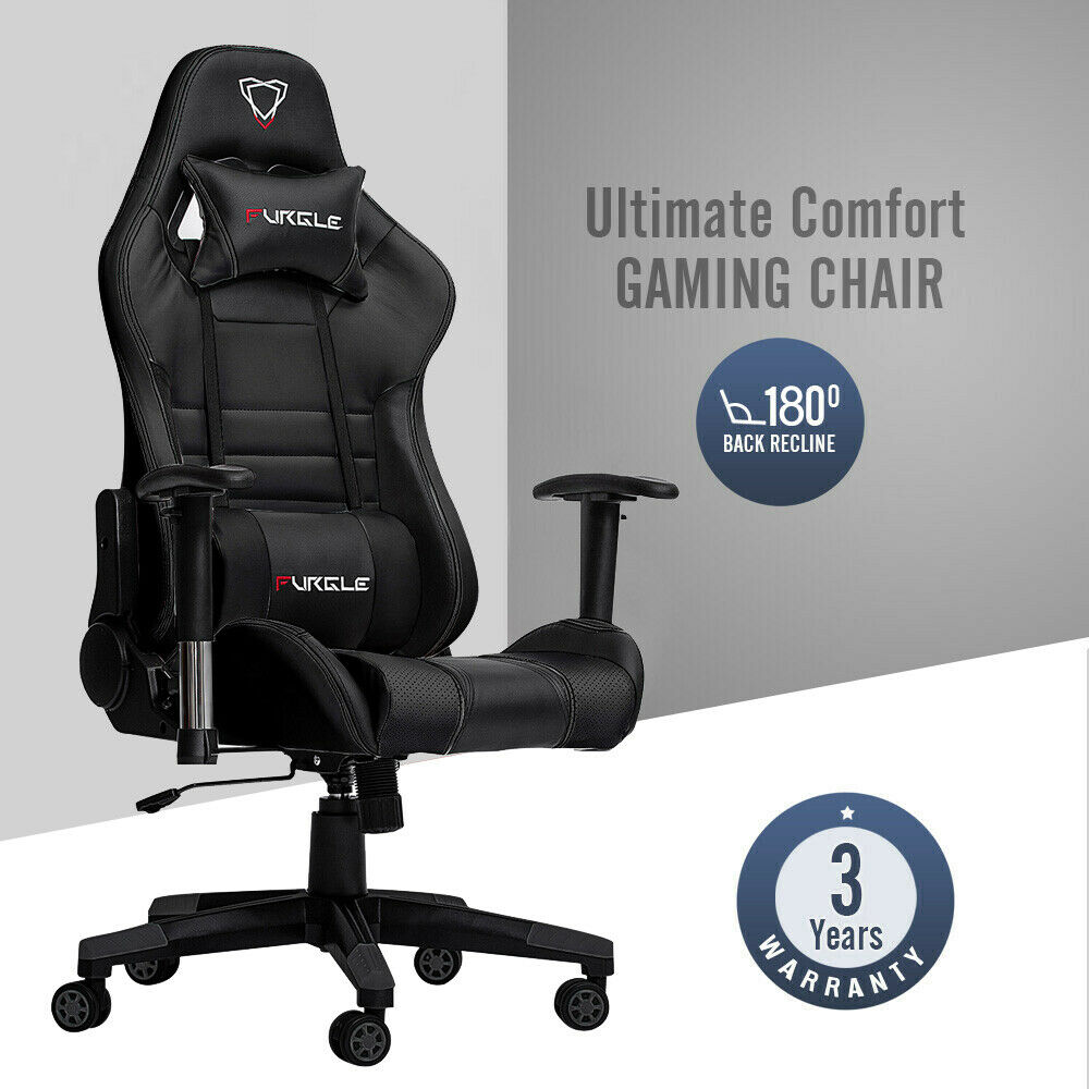 Fast Free Shipping Swivel Gaming Chair Office Chair With High Back Racing Gaming/Computer Chair Recliner PU Leather Seat Home