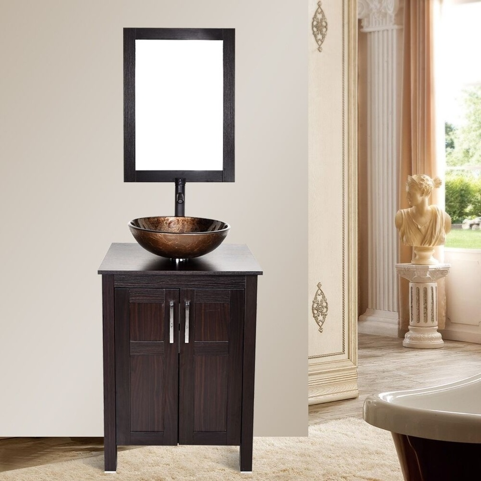 Bathroom Cabinet Mirror Vessel Sink