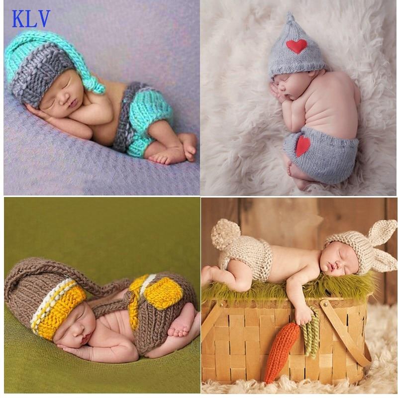 Heißer Verkauf Neugeborenen Jungen Mädchen Nette Häkeln Stricken Kostüm Prop Outfits Foto Fotografie