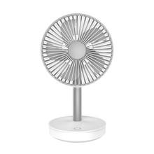Cooling Fan 3-Speed Adjustable Portable Mini Hand Fans 4000Mah Rechargeable Micro- Usb Desk Air Cooling Fan White(China)
